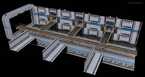 Ship Jumper Starship Hallway 1 Construction Kit by ArtOfSoulburn