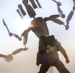 Inc God Robot 1 Defends 5 by ArtOfSoulburn
