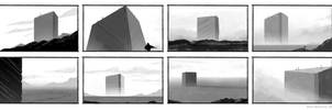 Inc Citadel On The Horizon Silhouette Sketch by ArtOfSoulburn