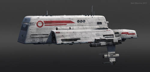 Heart Of The Giant: Ganymede Freighter Aphelion 1 by ArtOfSoulburn