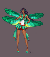 Radiant Sailor Carnelian Dragonfly :: Reference by LeyRose