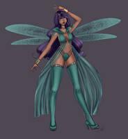 CA: Mirror, Mirror - Magnesium Dragonfly by LeyRose