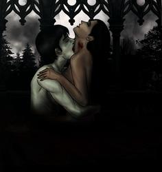 Love at nightfall - Bite/darker version by LedVampire