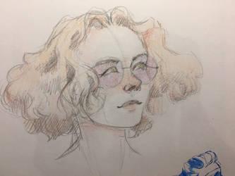Sketch of a friends oc by NoodleSiren