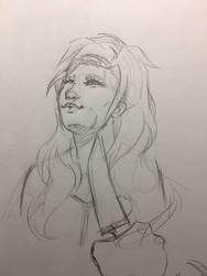 Oc sketch   Scarlett  by NoodleSiren