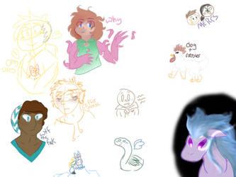 Sketch Dump #1 by lainypen