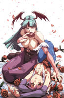 Morrigan and Lilith by alvinlee