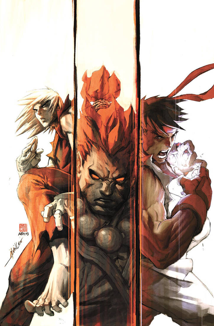 Street Fighter 1 - 6 COVER by alvinlee