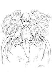 Morrigan - Ultimate Edish - Pencils by alvinlee