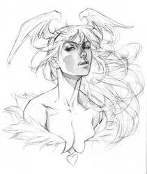Morrigan - Practice Sketch by alvinlee