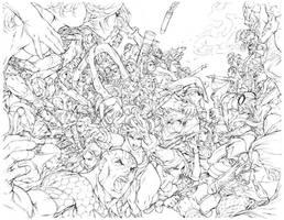 Marvel Vs. Capcom Complete Works - Pencils by alvinlee