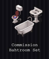 COMMISSION - Bathroom Set by PointyHat