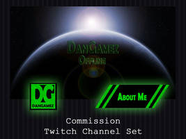 COMMISSION - Twitch Channel Set by PointyHat