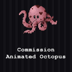 COMMISSION - Animated Octopus by PointyHat