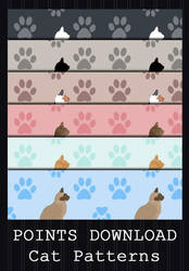 POINTS DOWNLOAD - Cat Patterns by PointyHat