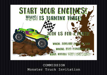 COMMISSION - Monster Truck Invitation by PointyHat