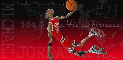 Animated Michael Jordan by Kadu-Productions