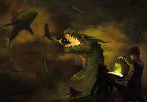 Battle Above by TobyFoxArt