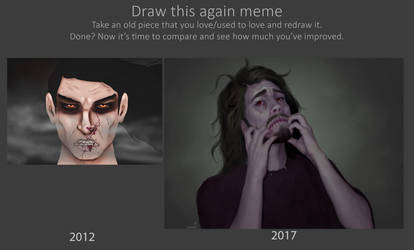 Vampire - Draw this again 2012 to 2017 by TobyFoxArt