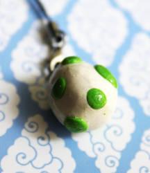 Yoshi Egg Phone Charm by CakeFruit