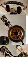 Steampunk Headphones by ajldesign