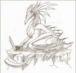 Notebook dragon - rough sketch by Equitrax