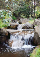 Stream with a mini-waterfall by PhotoTori