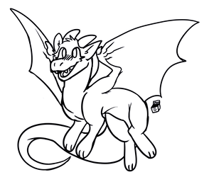 [FTU] Little Dragon Lineart by PandoraTheDragon