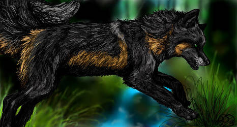 Fox Crossing by Kasaurus
