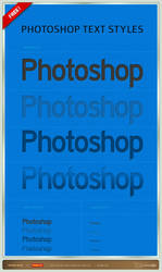 Photoshop Text Styles by artbees