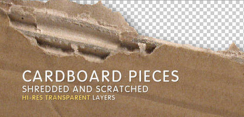2 Hi-Res Cardboard Pieces by artbees