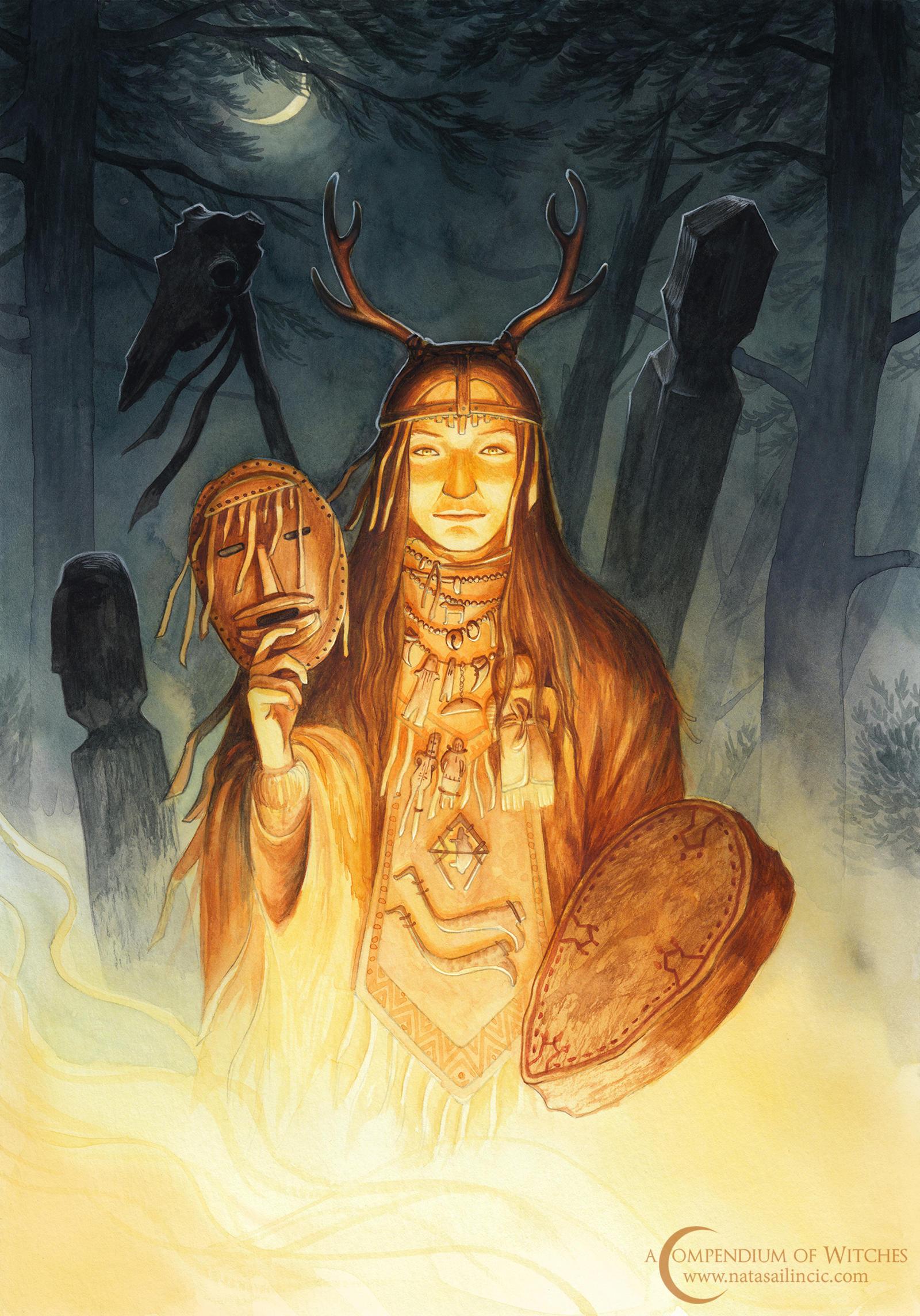 A Compendium of Witches ~ Dayaana, Siberian shaman by NatasaIlincic