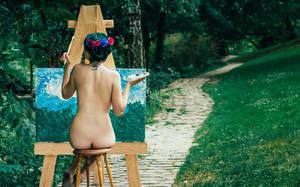 La pintora by yolandagarciafoto