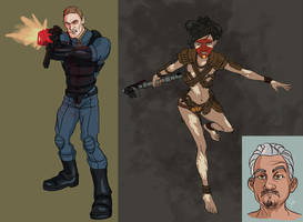 Fallout  Character Sketches by CameronAugust