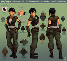 Sydney - Character Sheet - Full Body by CameronAugust
