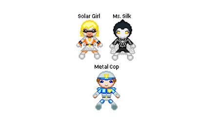 Solar Girl plushie set 1 by StrandedGeek