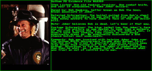 Gotham Evidence Files: Bob the Goon by StrandedGeek