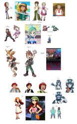 Pokemon Most Wanted list by StrandedGeek