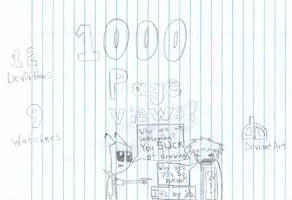 1000 page views...yay. by Dillon-the-hedgehog