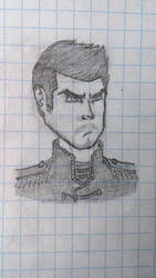 [Game Concept] Protagonist's early face design by HowlinnWolf