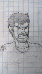 [Game Concept] Early protagonist's face design by HowlinnWolf