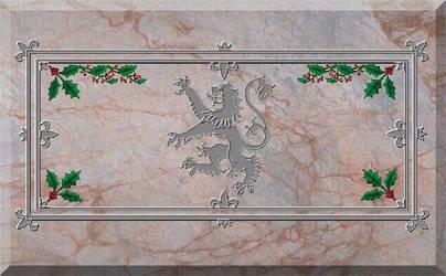 ChristmasVers old ScottishFlag by Myhrddin