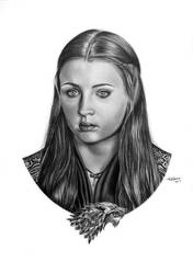 Sansa Stark COMMISSION by Mutemouia