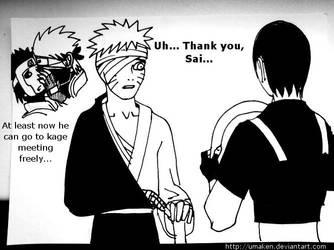 Naruto 455: bandages. by Umaken