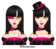 Black and Pink Twins by Angbryn