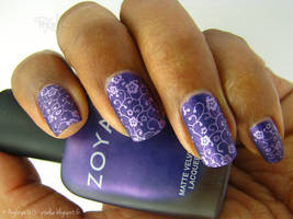 Purple stamping by Angbryn