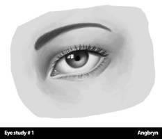 Eye study 001 by Angbryn