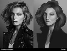 Female portrait study 002 by Angbryn