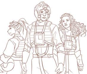 Silver Squadron by Acaciathorn