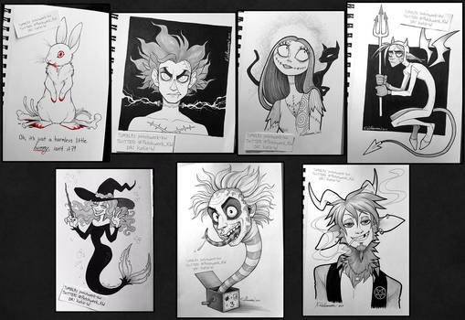Inktober 2017 compilation by Katie-W